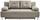 Boxspringsofa Ines B: 203 cm - Chromfarben/Beige, MODERN, Holz/Textil (203/96/102cm) - Luca Bessoni