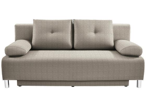 Pohovka Boxspring Ines - šedá/béžová, Moderní, dřevo/textil (203/96/102cm) - Luca Bessoni