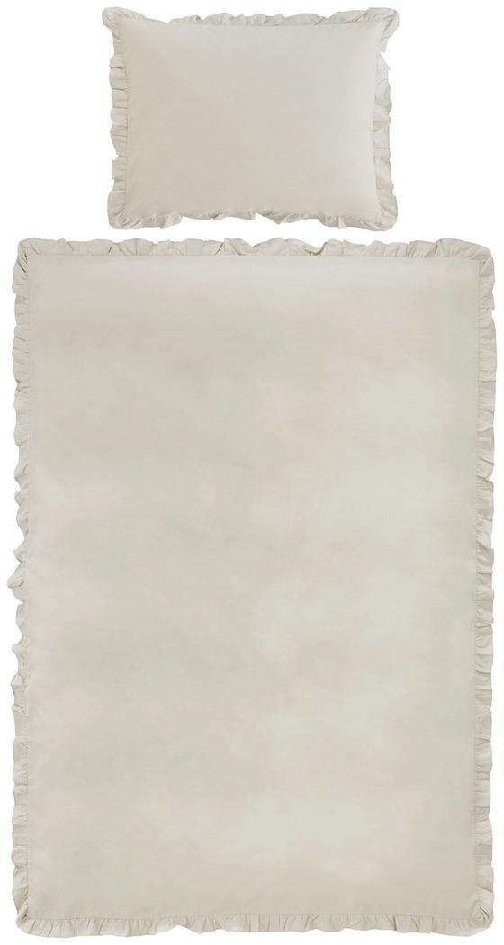 Povlečení Rüschen - pískové barvy, Romantický / Rustikální, textil (140/200cm) - Zandiara