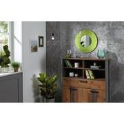 Wandspiegel Mosaik Ø 56 cm Gelb - Gelb, MODERN, Glas/Holzwerkstoff (56/10cm)