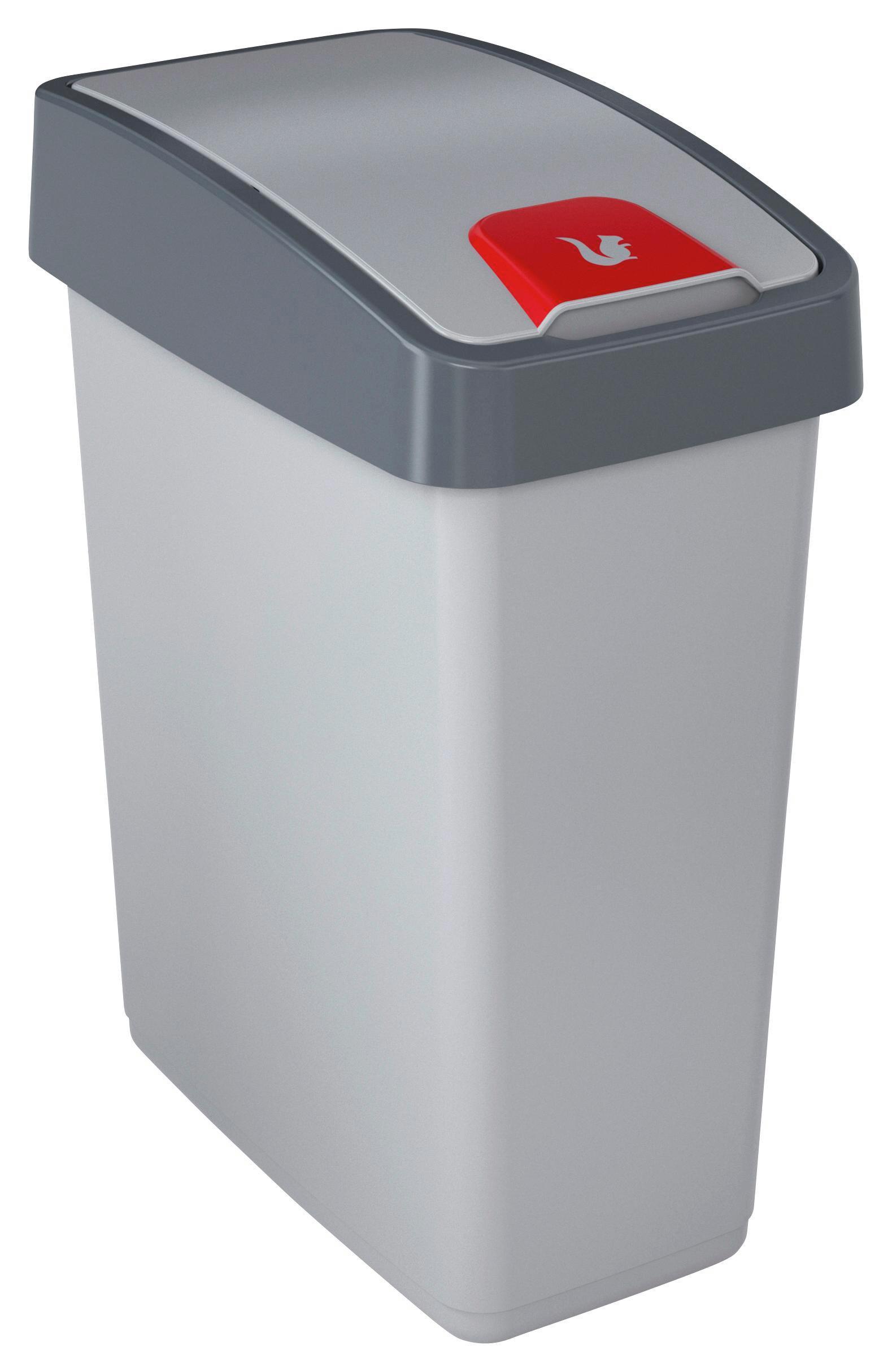 Szemetes Kuka Magne - ezüst színű, konvencionális, műanyag (39,5/24/47,5cm)