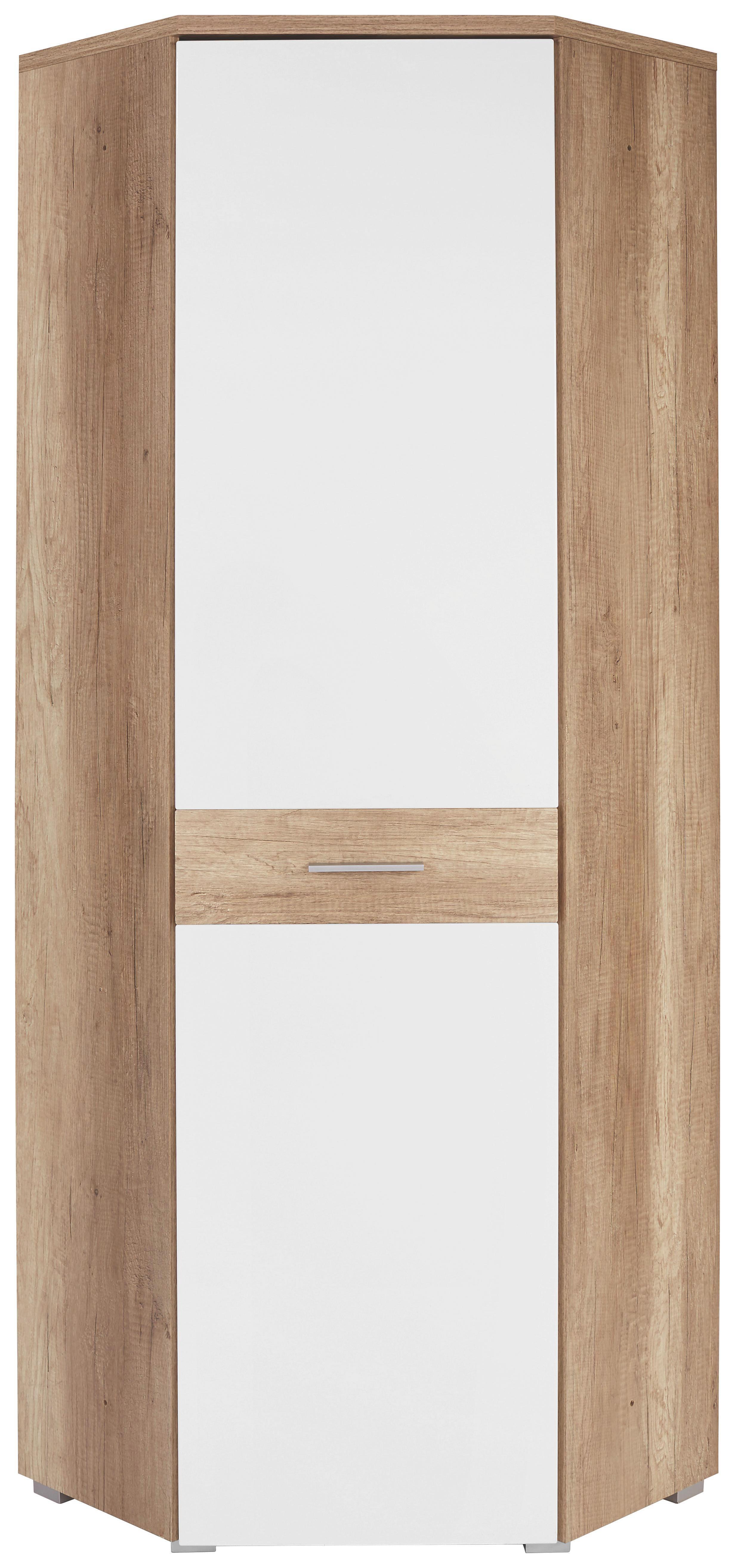 Előszoba Szekrény Space - tölgy színű/fehér, modern (70/199/70cm)