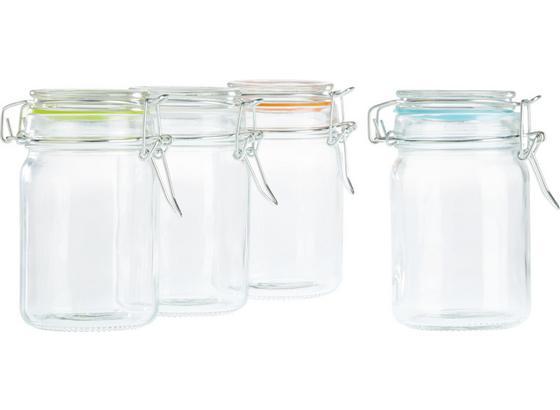 Skleněná Dóza Na Potraviny Mimi -top- - oranžová/bílá, kov/umělá hmota (6,8/11,7cm) - Mömax modern living