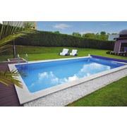 Styroporpool Set Kwad Pool Std 8,0x4,0x1,5m - Weiß, MODERN, Kunststoff (800/400/150cm)