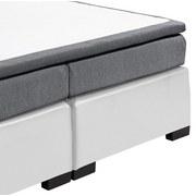 Boxspringbett mit Topper Im Lederlook 180x200cm Tiagua - Schwarz/Weiß, Basics, Holzwerkstoff/Textil (180/200cm) - Carryhome