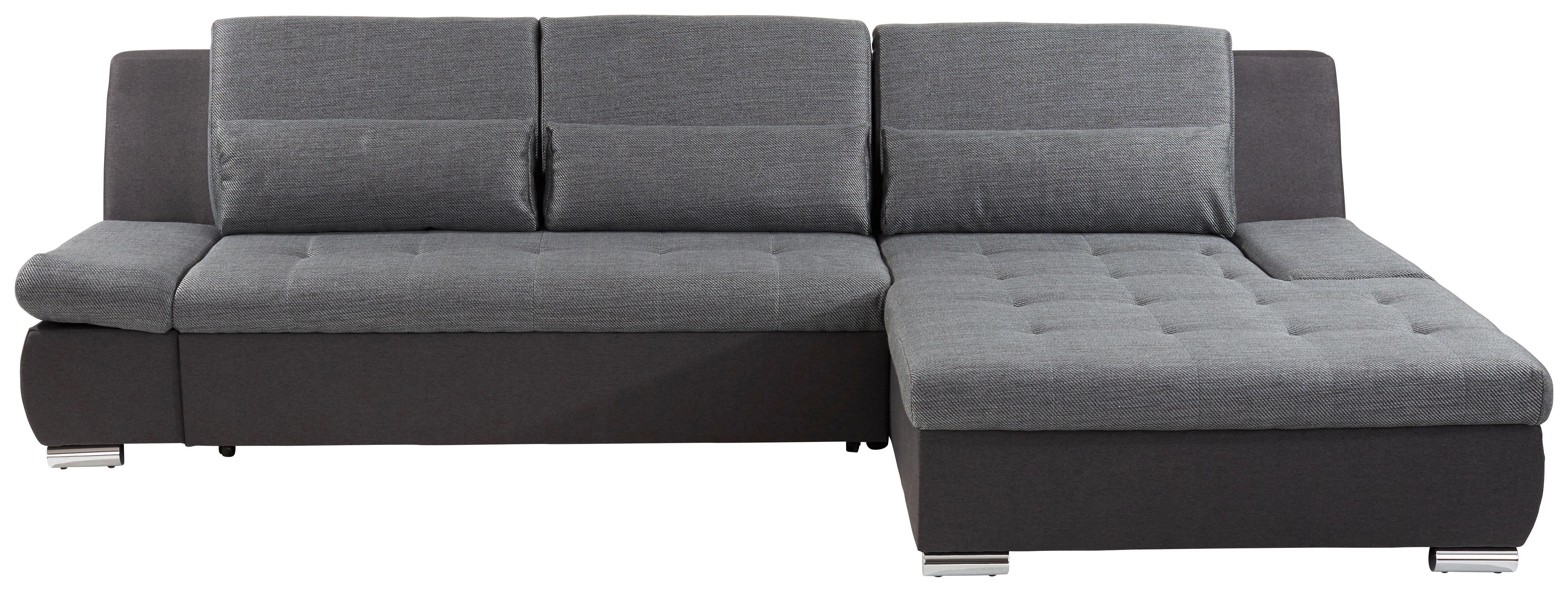 Sarokgarnitúra City - sötétszürke/szürke, modern, textil (292/171cm)