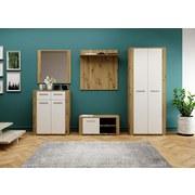 Garderobe Mow B: 250 cm Eiche/Weiß - Eichefarben/Weiß, Basics, Holzwerkstoff (250/195/38cm)