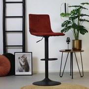 Barhocker-Set Frenkie B: 42,5 cm Kupfer - Schwarz/Kupferfarben, LIFESTYLE, Textil/Metall (42,5/111/42cm) - Livetastic