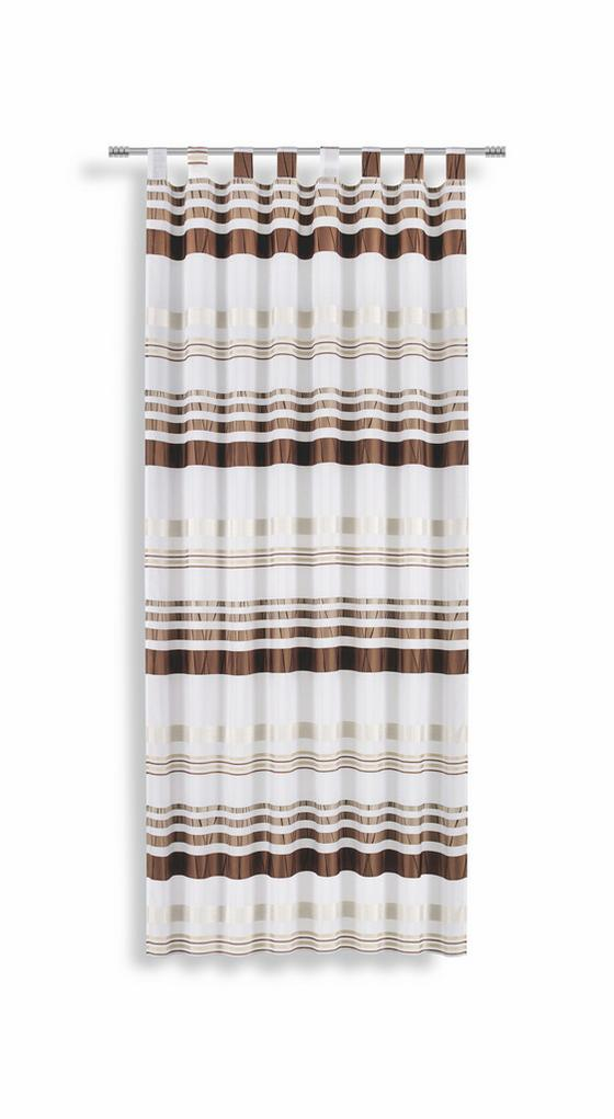 Kombivorhang Felice - Braun/Weiß, KONVENTIONELL, Textil (145/245cm) - Luca Bessoni