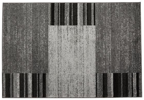 Webteppich Florence 120x170 cm - Schwarz/Grau, KONVENTIONELL, Textil (120/170cm) - Ombra