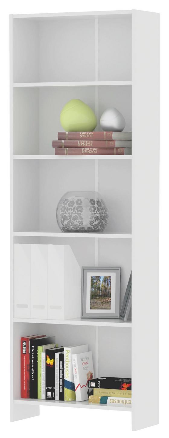 Regál Bart  *cenový Trhák* - bílá, Moderní, dřevo (60/175/24cm)