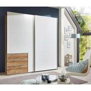 Schwebetürenschrank Level 36a 250 cm Weiß/eiche - Eichefarben/Weiß, MODERN, Holzwerkstoff (250/216/65cm)