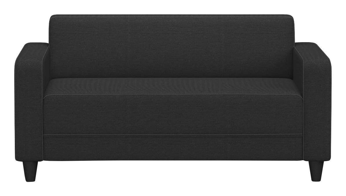 Sofa Basic B: 145 cm - Anthrazit/Schwarz, MODERN, Holz/Textil (145/70/78cm)