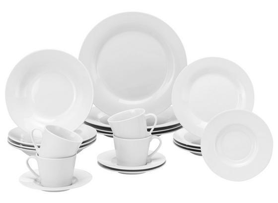 Kombinovaný Servis Lea, 20 Dielny - biela, Konvenčný, keramika - Based
