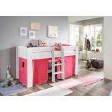 Spielvorhang 3-teilig Rosa/pink - Pink/Rosa, Design, Textil