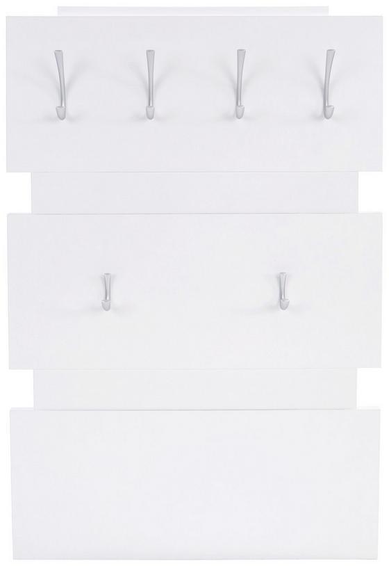 Garderobenpaneel Moya - Fehér, modern, Faalapú anyag/Műanyag (70/99/2cm)