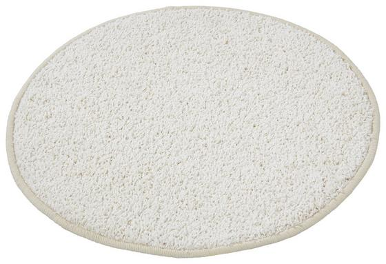 Hochflorteppich Sphinx Ø 67 cm - Weiß, KONVENTIONELL, Textil (67cm) - Luca Bessoni