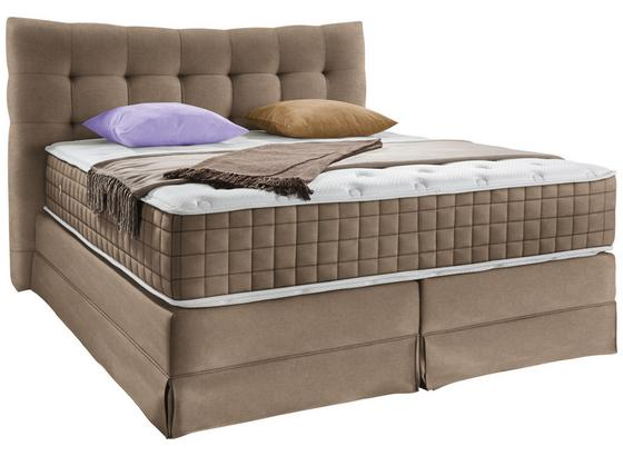 Boxspringbett Domino ca.160/200cm, Zimt - Braun, KONVENTIONELL, Holz (160/200cm) - James Wood