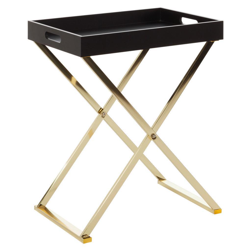 Príručný stolík Nina Zlatý/čierny