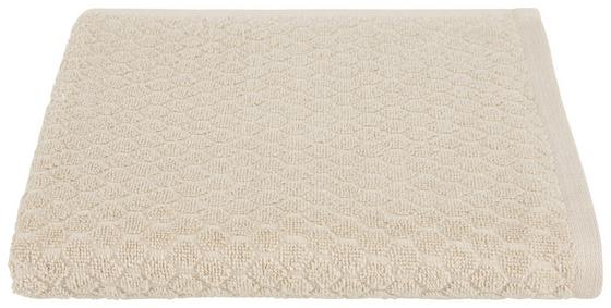 Duschtuch Elena - Beige, MODERN, Textil (70/140cm) - Luca Bessoni