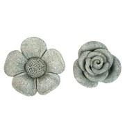 Dekoblume Aus Zement - Grau, MODERN, Stein (16/15/7cm)