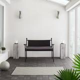 Záhradní Lavice Eva - černá/tmavě šedá, Moderní, kov/textilie (120/85/60cm) - Modern Living