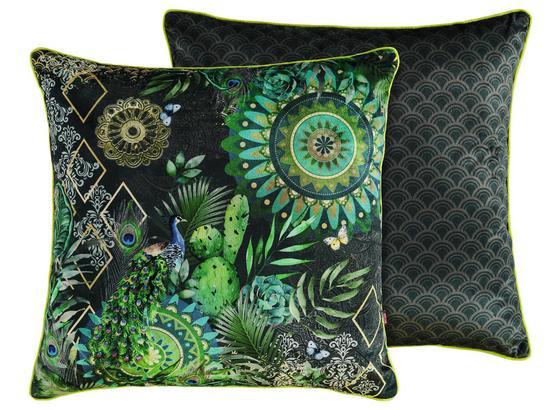 Zierkissen-doubleface Botalia - Multicolor/Grün, Textil (48/48cm)