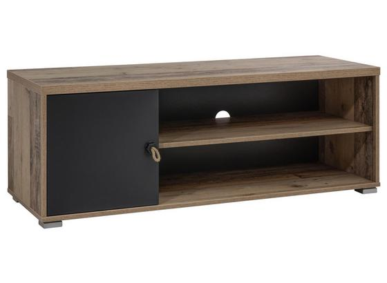 Lowboard Merlin - Fichtefarben/Anthrazit, Basics, Holzwerkstoff (120/43/42cm) - MID.YOU