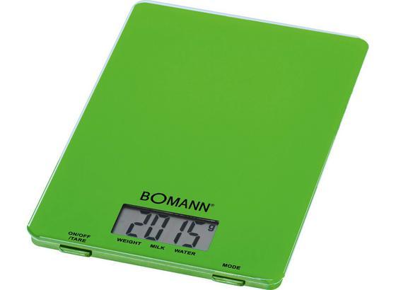 Bomann Elektrische Küchenwaage Kw 1515 Cb - Grün, KONVENTIONELL, Glas/Kunststoff (15/1.7/22cm) - Bomann