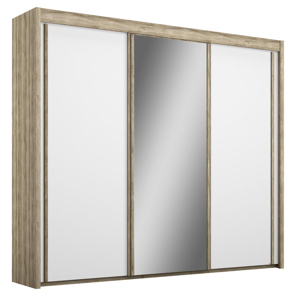 Šatní Skříň Se Zrcadlem Imperial, Dub / Bílá