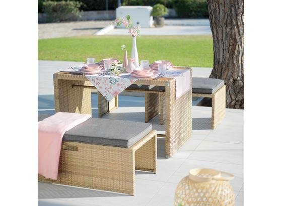 Multifunkčný Záhradný Nábytok Mykonos - hnedá/antracitová, kov/textil - Modern Living