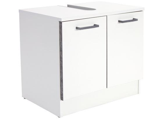 Skrinka Pod Umývadlo Verona - biela, Konvenčný, kompozitné drevo (65,4/54,3/33cm)