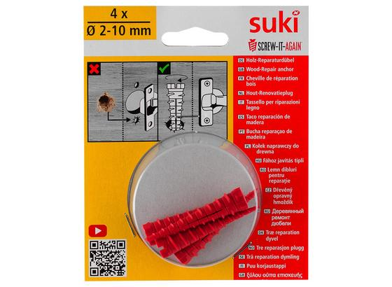 Dübelset Screw It Again - Rot, Basics, Kunststoff (2/11,4/14cm) - Suki