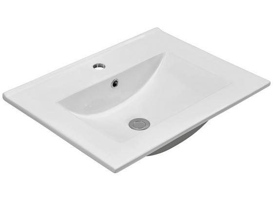 Waschbecken Plan - Weiß, KONVENTIONELL, Keramik (60/17/46cm)