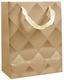 Geschenktasche Raute S - Silberfarben/Goldfarben, Basics, Karton (23/18/10cm)