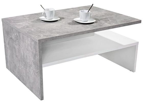 Konferenční Stolek Laura - šedá/bílá, Moderní, kompozitní dřevo (90/42/60cm)