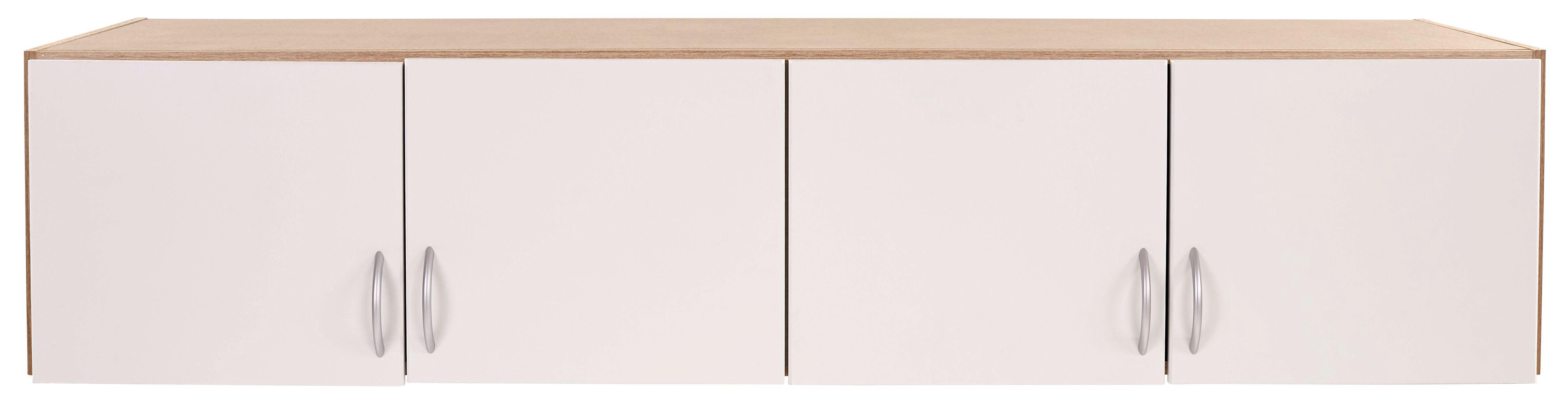 Aufsatzschrank Karo Extra 4trg, 181cm - Eichefarben/Weiß, KONVENTIONELL, Holzwerkstoff (181/39/54cm)