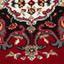 Webteppich Pierre 100x160 cm - Rot, KONVENTIONELL, Textil (100/160cm) - Ombra