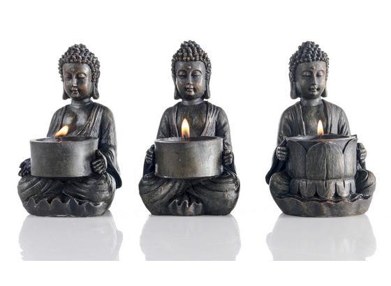 Držák Na Čajovou Svíčku Buddha I - hnědá, Lifestyle, umělá hmota (9/14/9cm) - Mömax modern living
