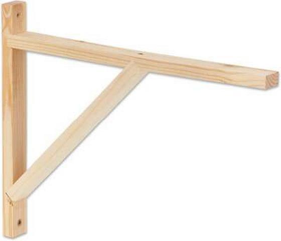 Nastěnný Držák Olaf 3 - barvy borovice, Moderní, dřevo (42cm)