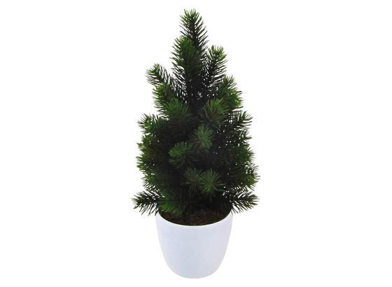 Umelá Rastlina Jedlička I - hnedá/zelená, kov/plast (38cm)