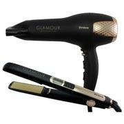 Haarstylingset Glamour - Goldfarben/Schwarz, MODERN, Kunststoff