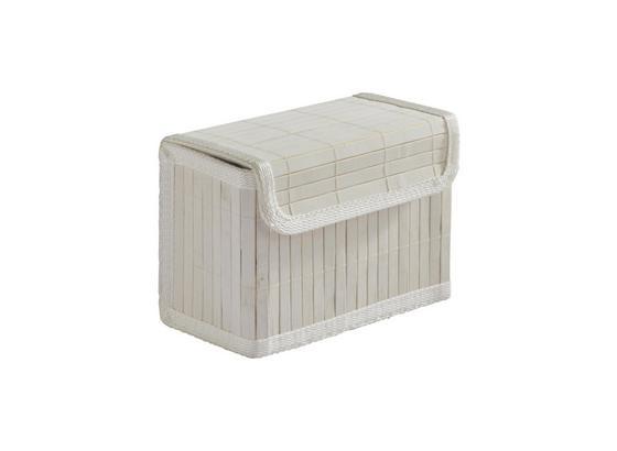 Košík Bambus Biely - biela, drevo/textil (17/11/13.5cm) - Mömax modern living