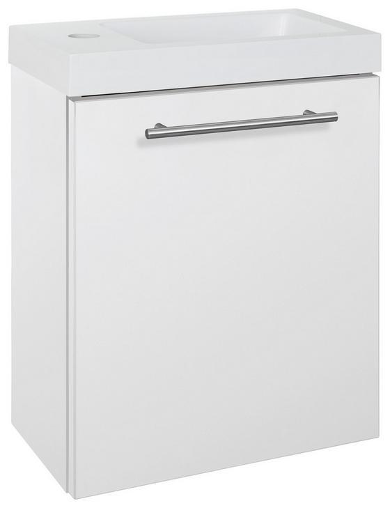 Waschtischkombi Fantasy Weiß - Weiß, MODERN, Holzwerkstoff/Stein (40/49/22cm)