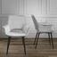 Stolička Valentine - čierna/svetlosivá, Moderný, kov/drevo (66/92/61cm) - Mömax modern living