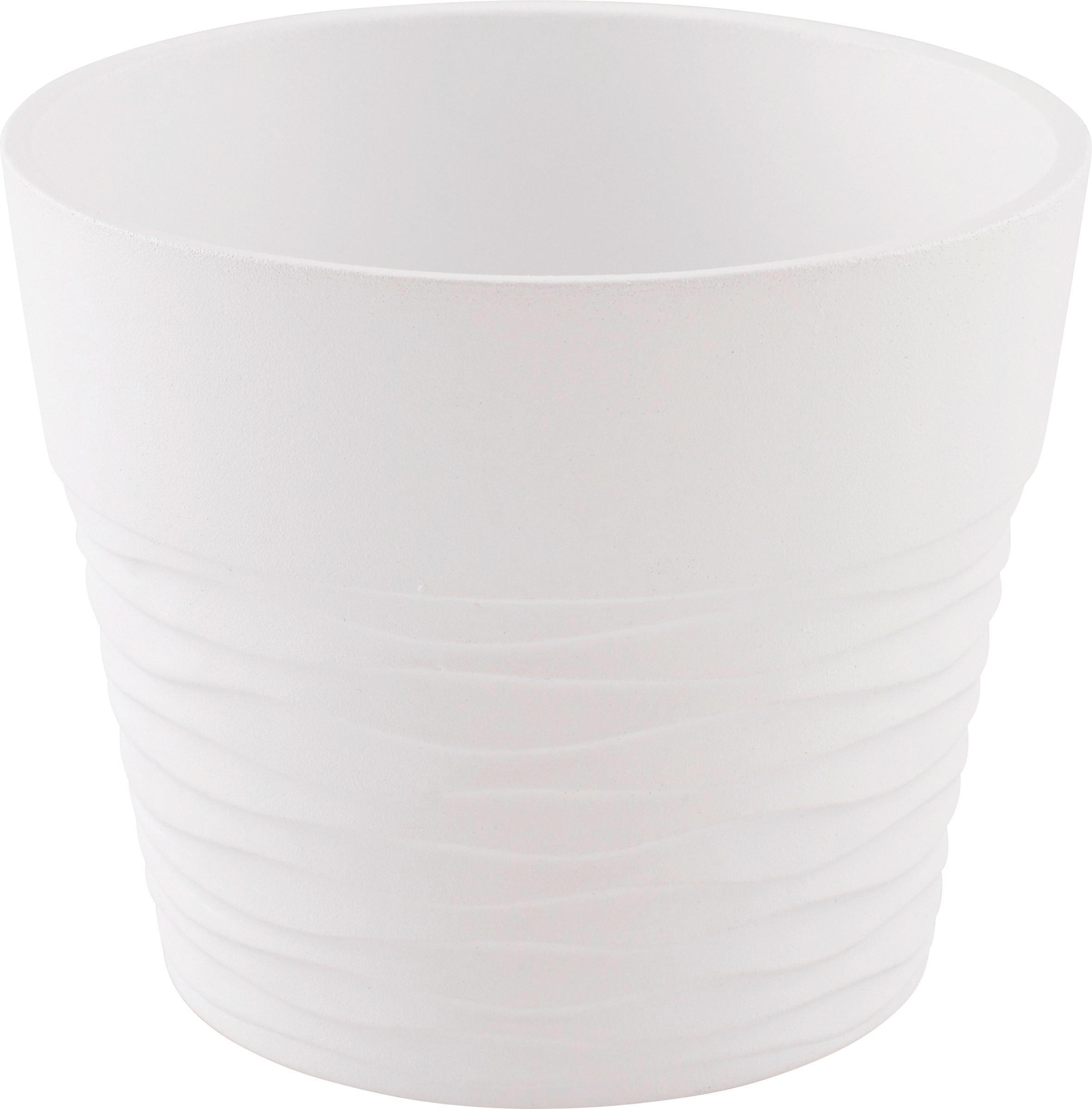 Kaspó Cecil - barnásszürke/fehér, konvencionális, kerámia (15/12cm) - OMBRA
