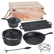 Dutch-Oven-Set 9-teilig - Schwarz, MODERN, Metall (36,5/26/55cm)