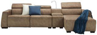 Sedací Souprava Bondi - hnědá, Moderní, dřevo/textil (309/74-92/170cm) - Mömax modern living