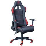 Gamingstuhl Gaming Red Schwarz/Rot - Rot/Schwarz, MODERN, Kunststoff/Textil (69/125(132)/50cm) - MID.YOU