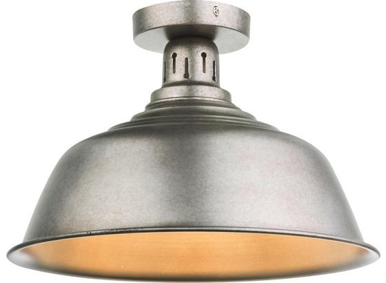 Deckenleuchte Kutum Ø 37 cm - Zinkfarben, MODERN, Metall (37/24,5cm)